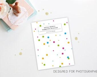 Social Media & Marketing Planner for Photographers - Social Media Planner - Photography Planner - Business Social Media