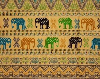 Asian elephants - yellow ochre