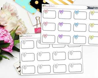 Bow Paperclip Half Box | for use with Erin Condren Lifeplanner™, Filofax, Personal, A5, Happy Planner