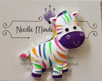 Rainbow Zebra Needle Minder