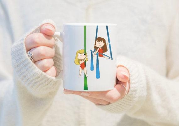 aerial silks mug, gift for girls, unique coffee mug, coffee mug, aerial problems, circus problems, circus gift, circus mug, circus, yoga