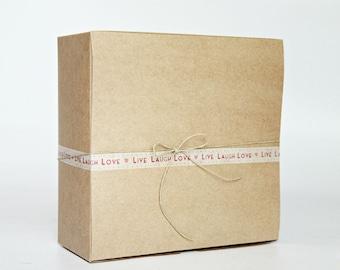 8 x 8 x 3.5 inch Kraft Gift Boxes lot of 20    ( 8x8x3.5 inches)  (20.32 x 20.32 x 8.89 cm)