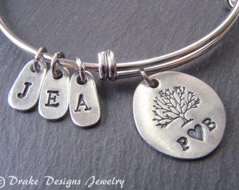 family tree personalized family bracelet bangle Mothers Day family tree