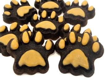 Organic Dog Treats - Paws Up - Mini Paws - All Natural Dog Treats Organic Vegetarian Carob Cake - Shorty's Gourmet Treats