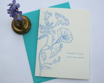 Thanks So Much, You're Too Sweet! - Greeting Card