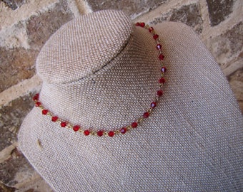 red and gold chain choker