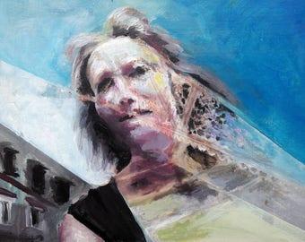 Portrait 1, acrylic on canvas panel