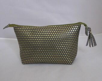 Leather Make up bag