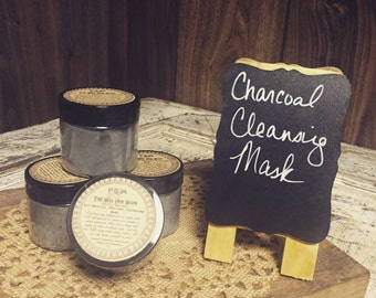 All-Natural Charcoal Cleansing Mask, charcoal mask, charcoal facial, clay mask