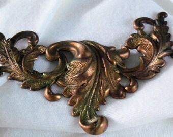 Vintage Brass Leaf Stamping