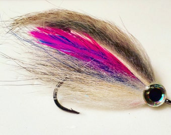 The rainbow streamer, streamer, fly, fly fishing fly, bass, size 1, flies
