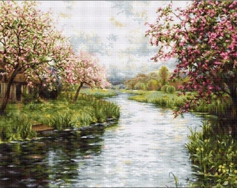 Spring Landscape SB545 - Cross Stitch Kit by Luca-s
