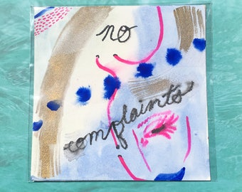 """no complaints / Colorful Watercolor Painting on Artist Grade 8"""" x 8"""" Paper"""