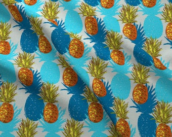 Tropical Pineapples Fabric - Pineapples By Seesawboomerang - Vintage Summer Beachy Hawaiian Cotton Fabric By The Yard With Spoonflower