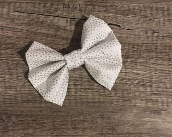 Glitter spotted bow