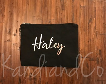 Personalized Cosmetic Bag / Bridal party gift/ Birthday gift / Personalized bag/ Bridemaids gift