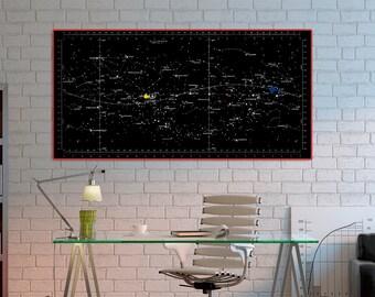 Star Chart, Apollo 11, 1969.NASA Apollo mission, Apollo 11 star map, Vintage Nasa art print.