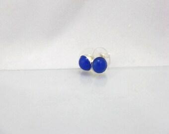 Gemstone stud earrings.  Choice of 8mm Gemstone.