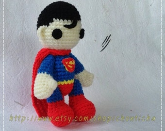 Superman 6 inches - PDF amigurumi crochet pattern