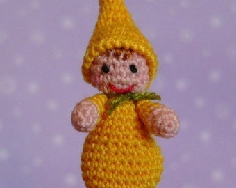 PDF PATTERN - Crochet Miniature Baby Gnome - Amigurumi Tutorial