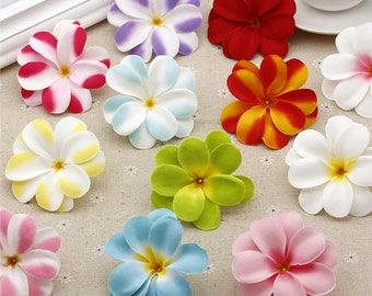 "20 Pcs Artificial Plumeria Heads,Silk Flowers,2.75"",Hair Flower Supply,Wedding Pomander Kissing Ball Table Centerpieces(153-73)"