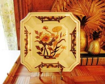 Chinoiserie Porcelain Dish by Andrea Sadek, Dish, Coffee Table Decor, Oriental Flower Porcelain Dish, Entry Table Decor, Porcelain Catchall