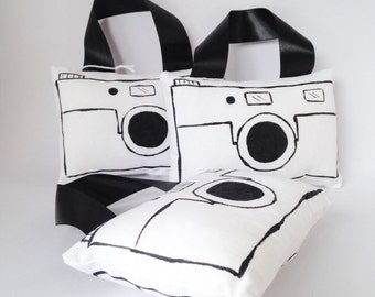 Children's toy camera, handpainted plush camera, kids photography