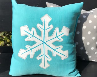 "18"" Custom-Snowflake Pillow"