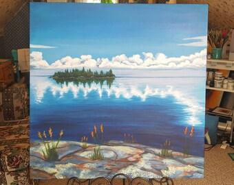 Lac La Ronge Lake - Saskatchewan Landscape Painting