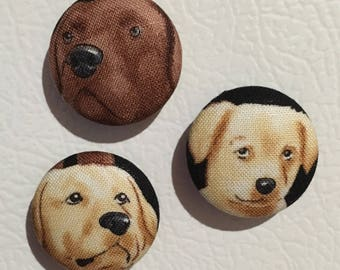 Fabric covered Dog magnets