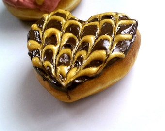 Heart Donut Magnet Food Magnets Cute Fridge magnets Food Jewelry Funny Office Decor Bakery