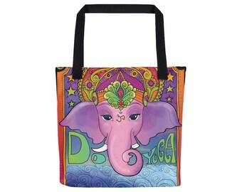 Ganesh Tote Bag / Ganesha Purse / Hindu God Satchel / Yoga Meditation Fashion Accessory