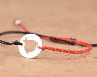 Sterling silver ladybug bracelet