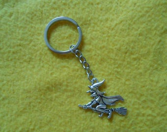 Flying witch key chain
