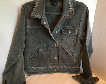 UP-CYCLED CORDUROY jean style jacket