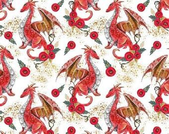 Dragons CL cotton lycra knit 1/2 yard
