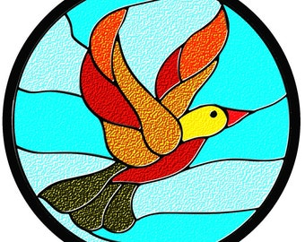 "Round ""Stained Glass"" Puzzle 