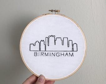 Birmingha, AL Skyline - Embroidery Hoop - 6 inch