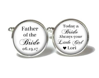 Father of the Bride Cufflinks   Wedding Cufflinks   Father of the Bride Gift   Style 733