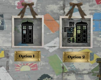 Dr. Who Logo Decals