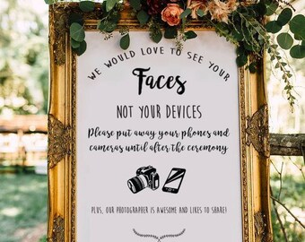 PERSONALISED Unplugged Wedding Sign, Unplugged Ceremony Sign, Printable Wedding Sign, Printable sign, Wedding decoration sign