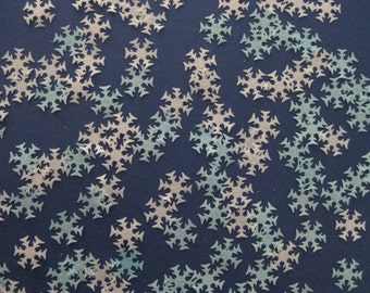 50 Medium Blue White Frozen Snowflake Rice Wafer Paper Cake Cupcake Decoration Toppers