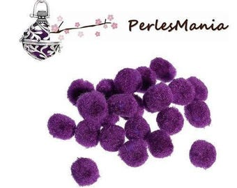 PAX 20 Polypropylene purple 14mm FRAGRANCE DIFFUSER balls have insert in CAGE S1179389