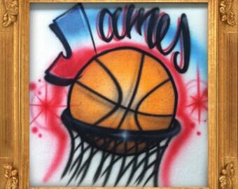 Basketball Star airbrush t-shirt