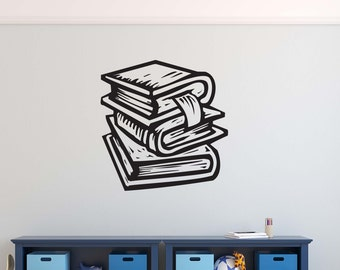 Books Book Vinyl Wall Decal Decor