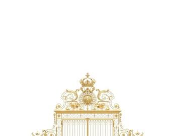 Versailles Paris Photography, Versailles Castle, Versailles Golden Gates, Romantic French Wall Decor, Large Wall Art