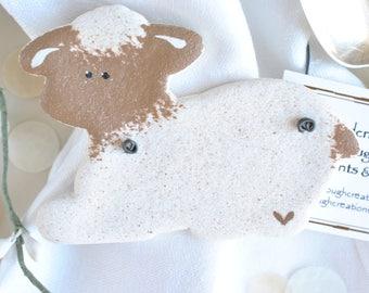 Christening Favor / Baptism  Lamb Salt Dough Wholesale Ornaments Set of 6