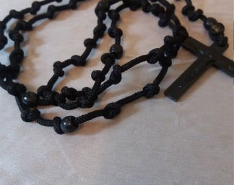 All black rosary
