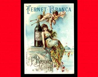 Vintage Food Print - Fernet Brance Liqueur Kitchen Kitchen Poster Vintage Food Poster Kitchen Print   Reproductiont