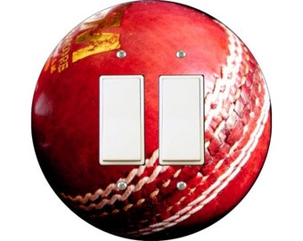 Cricket Ball Decora Double Rocker Switch Plate Cover